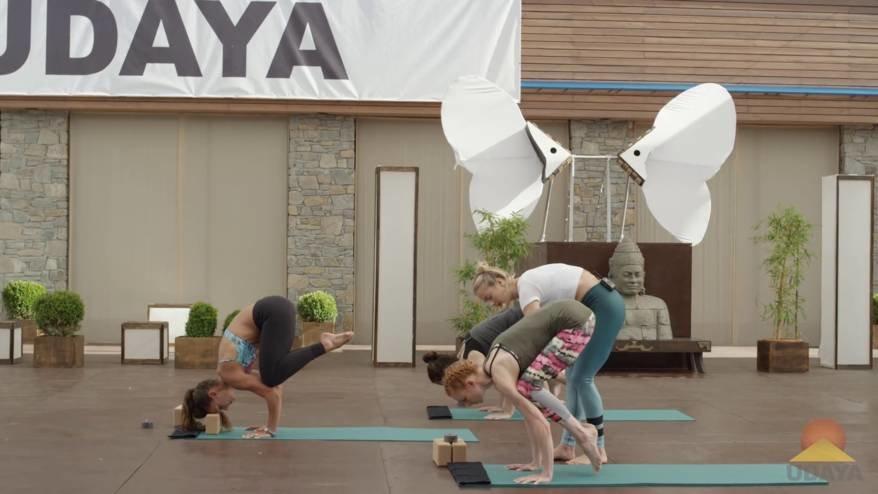 Crow Pose yoga tutorial
