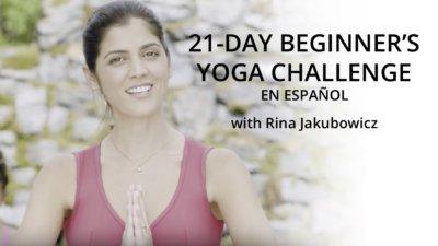 Rina Jakubowicz 21-Day beginner's yoga challenge on UDAYA.com